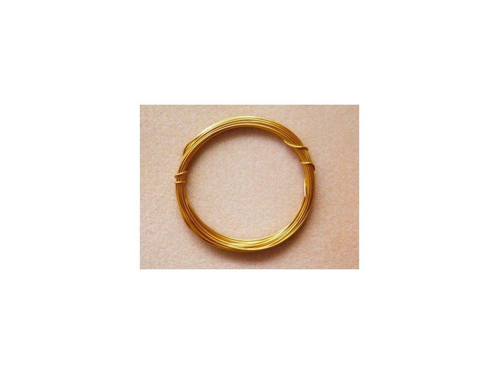 Barevný drátek 1 mm - barva zlatá