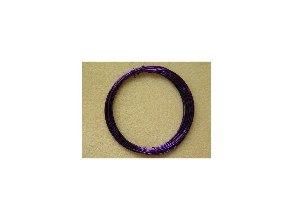Barevný drátek 1 mm - barva purpurová
