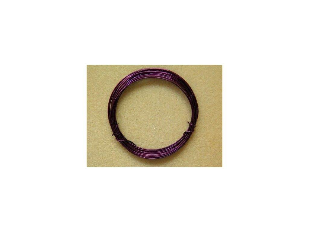 Barevný drátek 1 mm - barva tmavě fialová