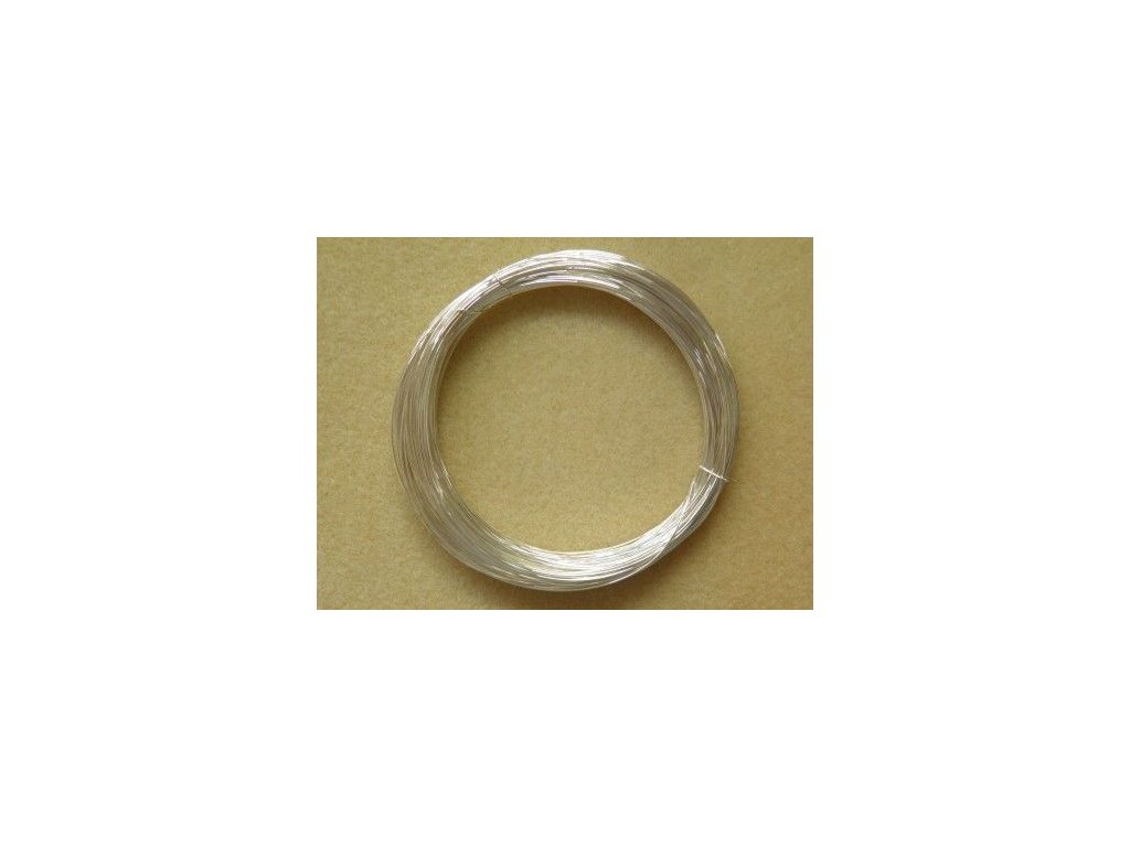 Barevný drátek 1 mm - barva stříbrná