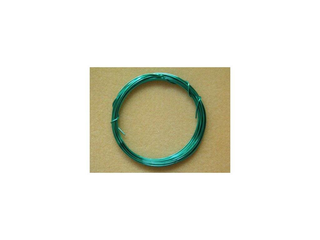 Barevný drátek 1 mm - barva tyrkysová