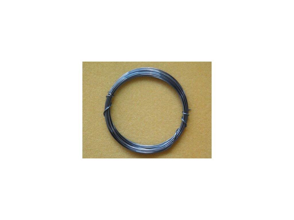 Barevný drátek 1 mm - barva světlemodrá