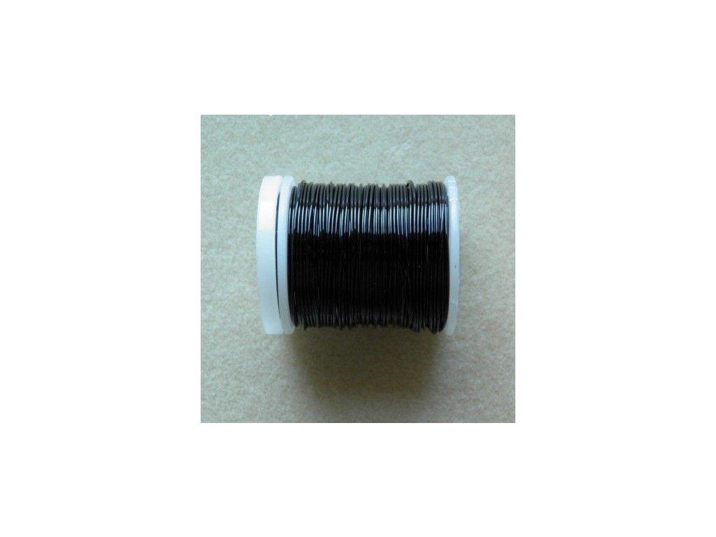 Barevný drátek 0,8 mm - barva černá