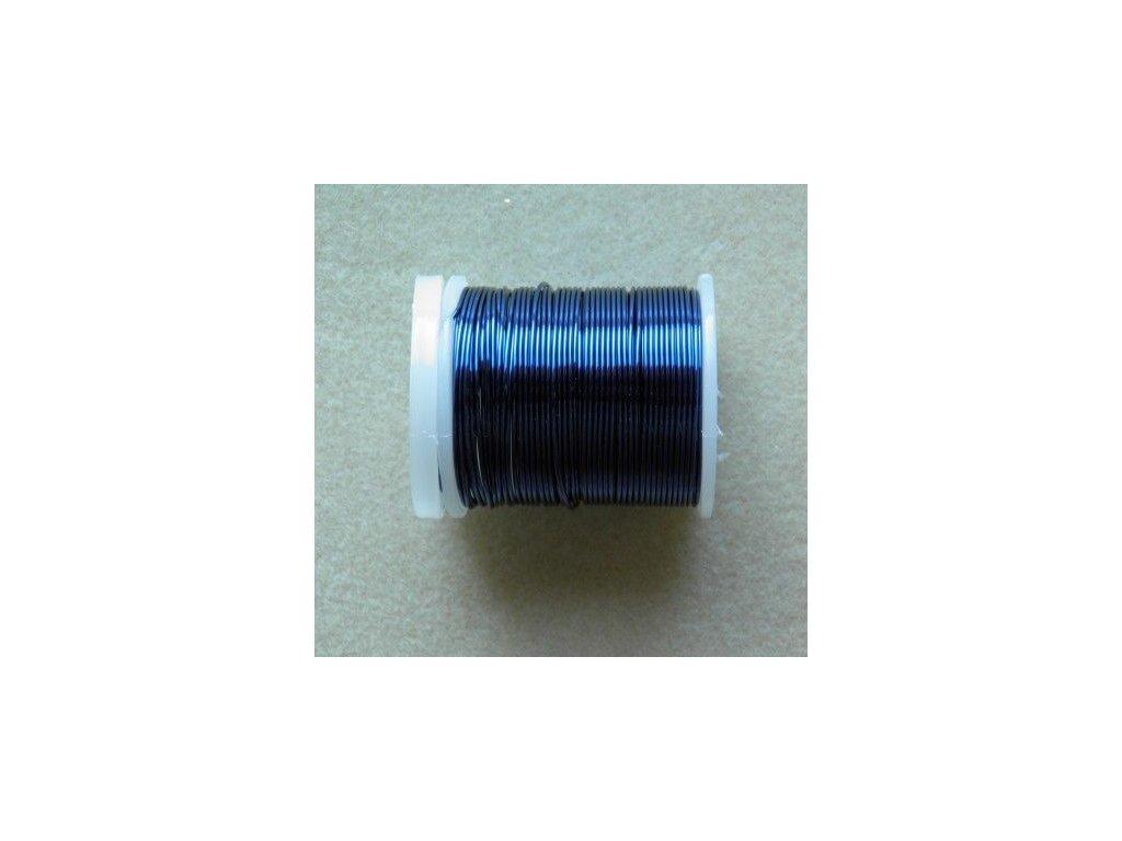 Barevný drátek 0,3 mm - barva tmavě modrá