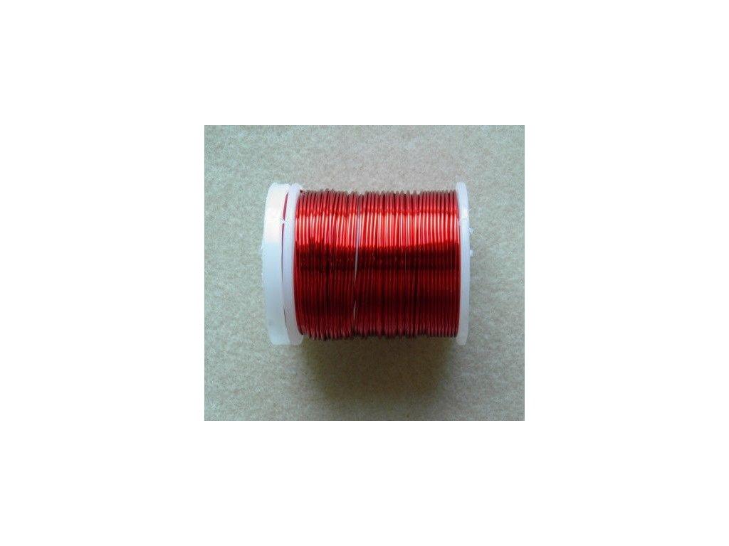 Barevný drátek 0,5 mm - barva červená