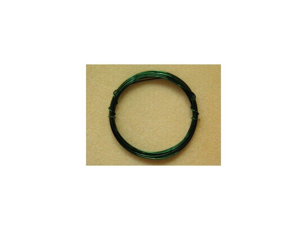 Barevný drátek 0,3 mm - barva tmavě zelená