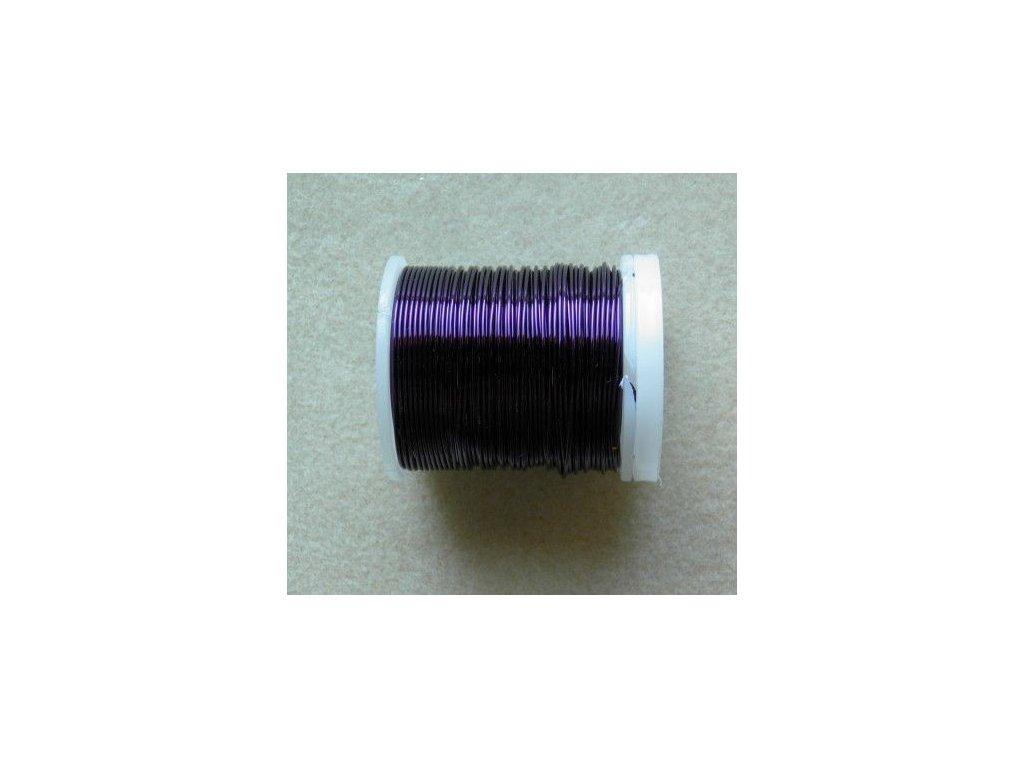 Barevný drátek 0,5 mm - barva tmavě fialová