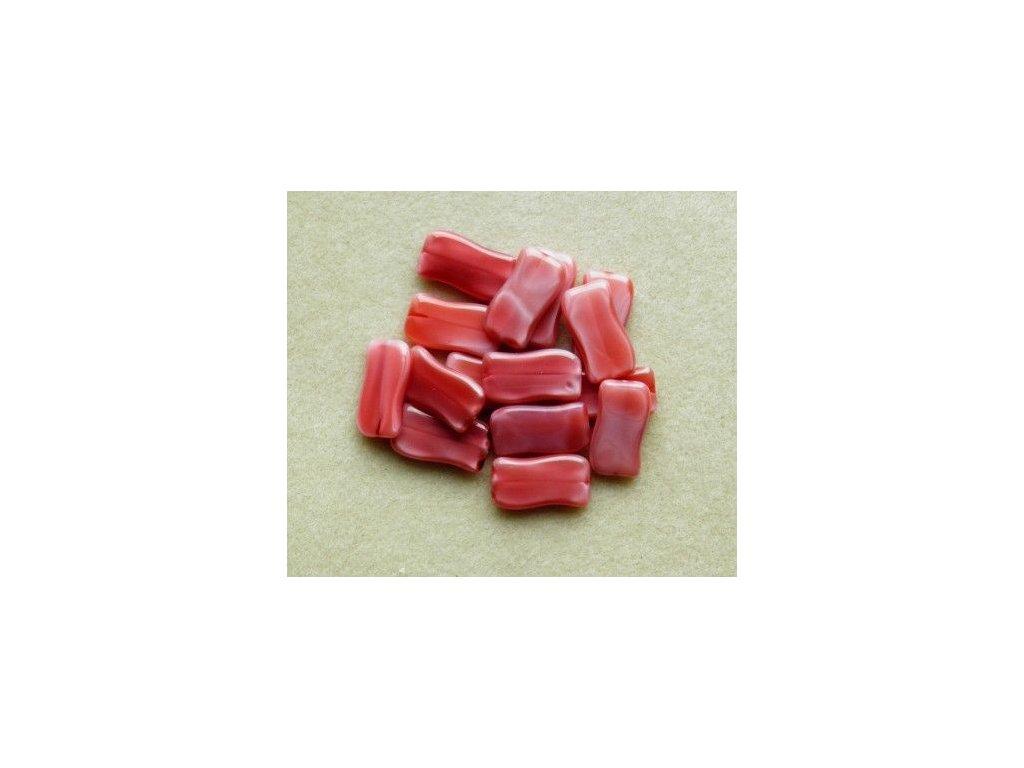 Korálky mačkané - MKL090 - vlnka růžová