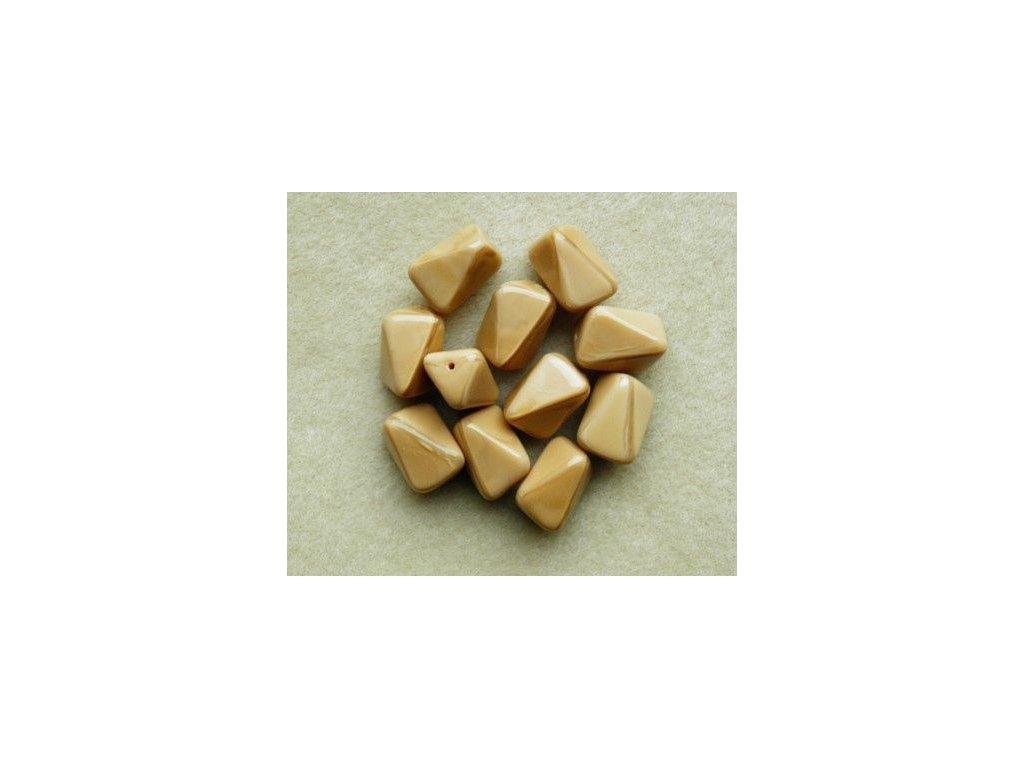 Korálky mačkané - MKL091 - několikahran hnědý