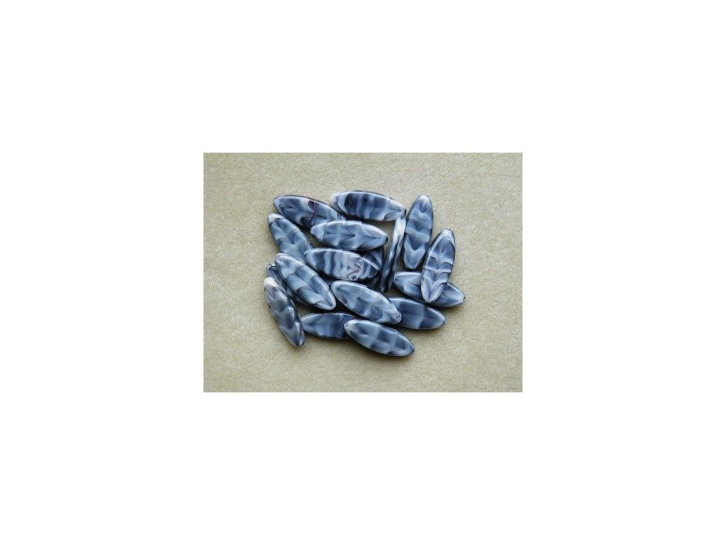Korálky mačkané - MKL094 - lístek malý 26067