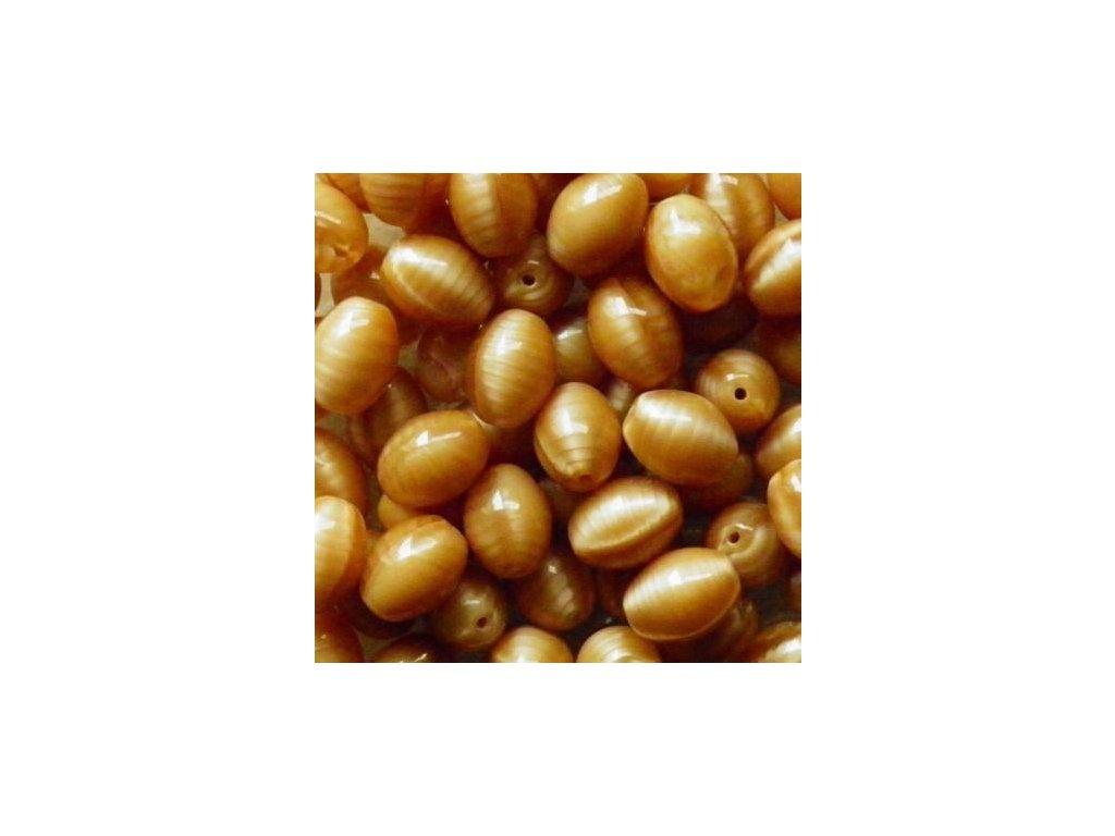 Korálky mačkané - BW09 - oliva hnědá