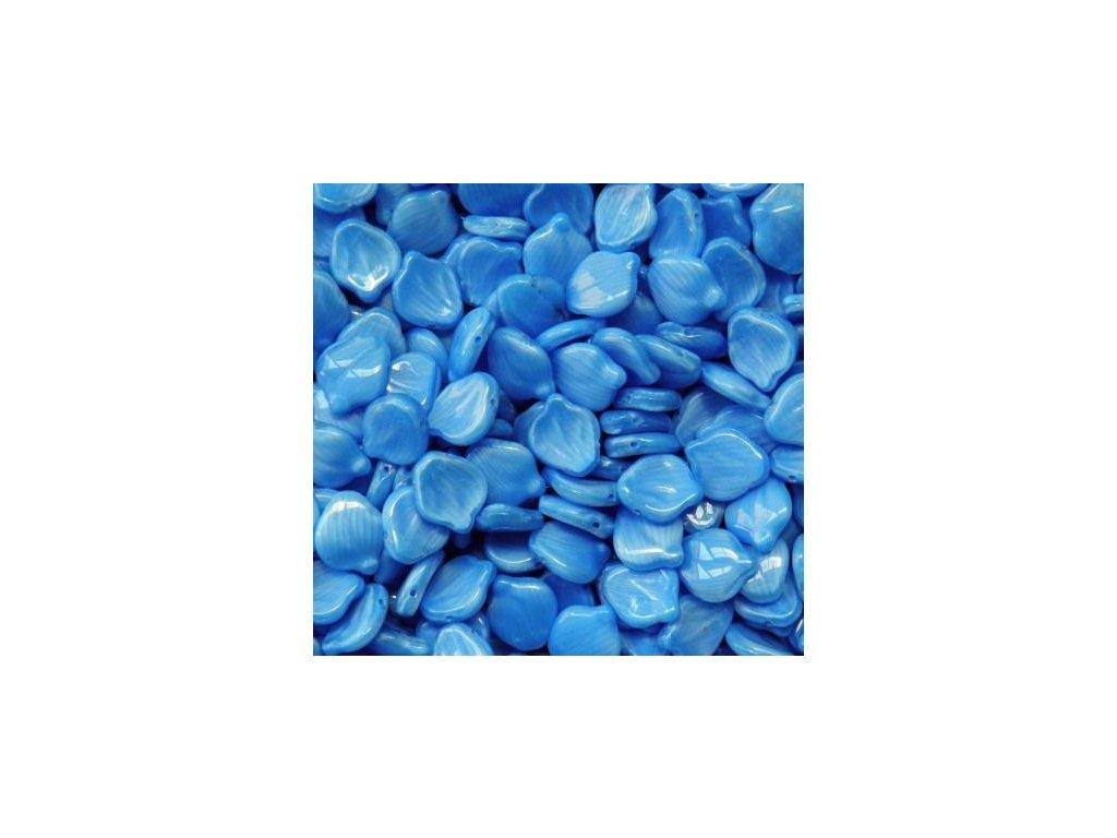 Korálky mačkané - modrý lístek