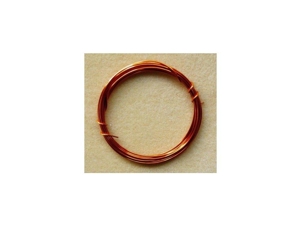 Barevný drátek 1 mm - světle oranžová