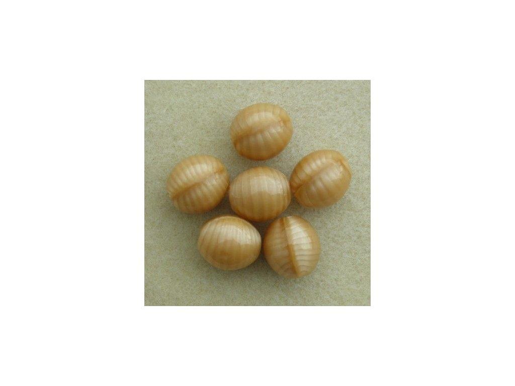 Korálky mačkané - BW40 - oliva velká hnědá