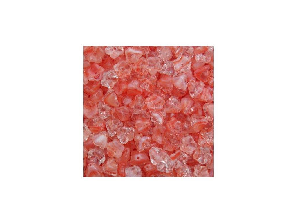 Korálky mačkané - BW49 - zvoneček krystal/hyacint