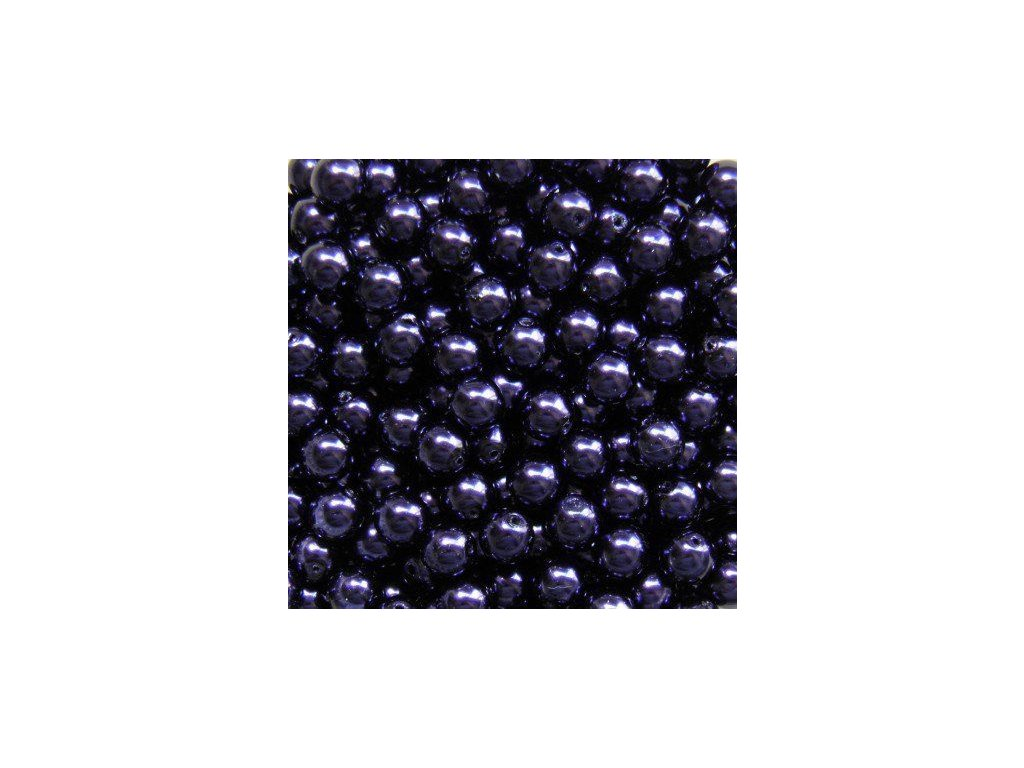 Korálky - voskované perle (12299/2) 6 mm