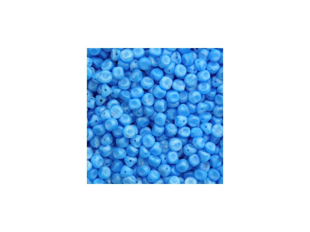 Korálky mačkané - BW56 - kulička s ploškami modrá