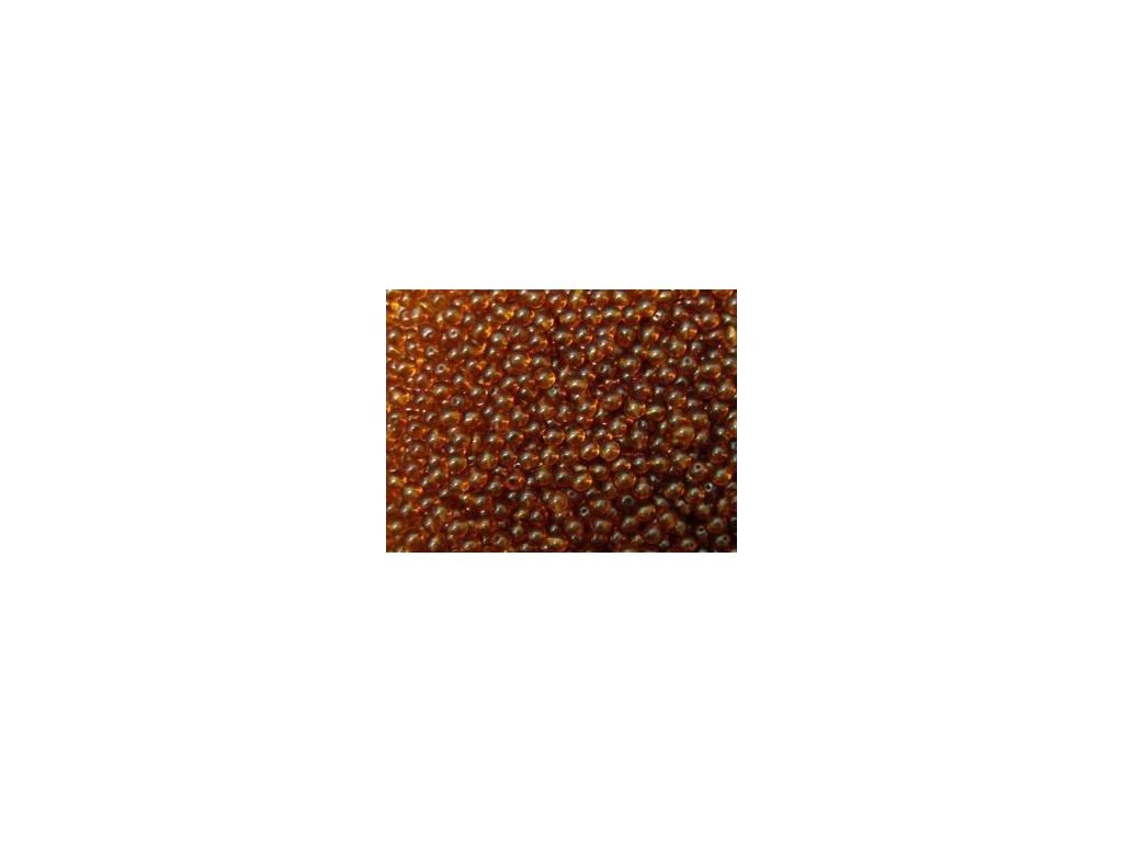 Korálky mačkané - kulička 4 mm - 10120 tmavě hnědá