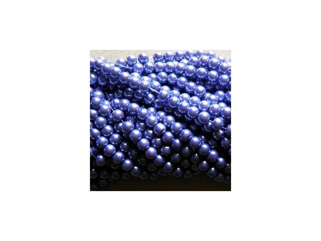 Korálky - voskované perle 8 mm lila (DOVOZ)