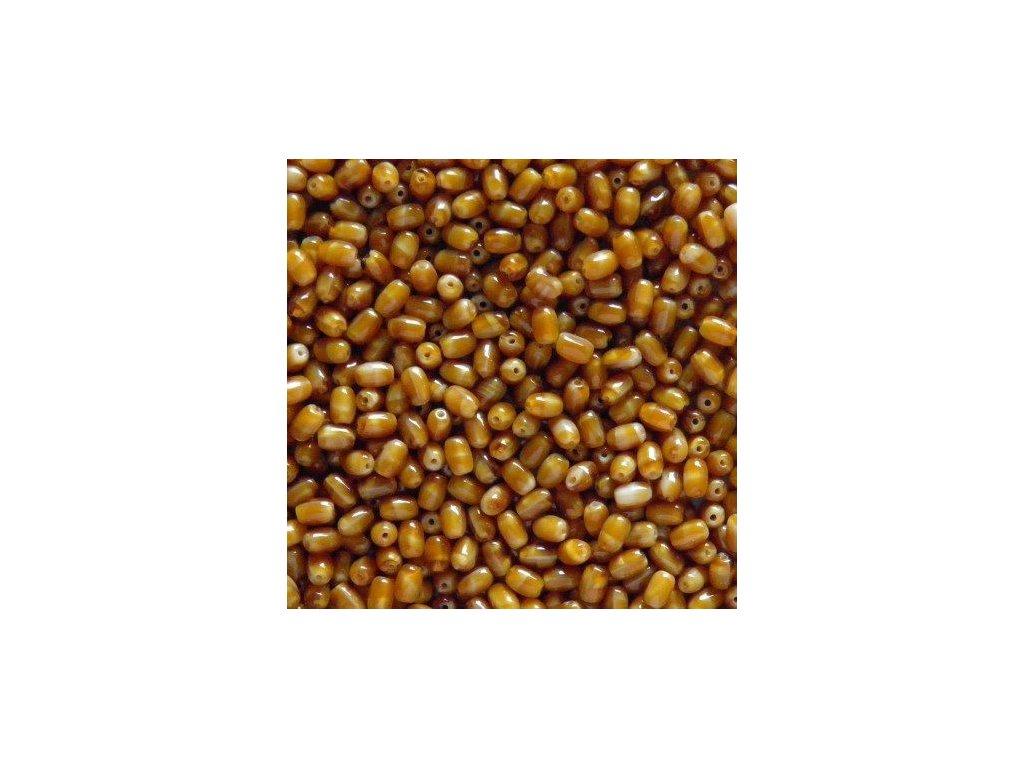 Korálky mačkané - oliva 16127 - 6/4