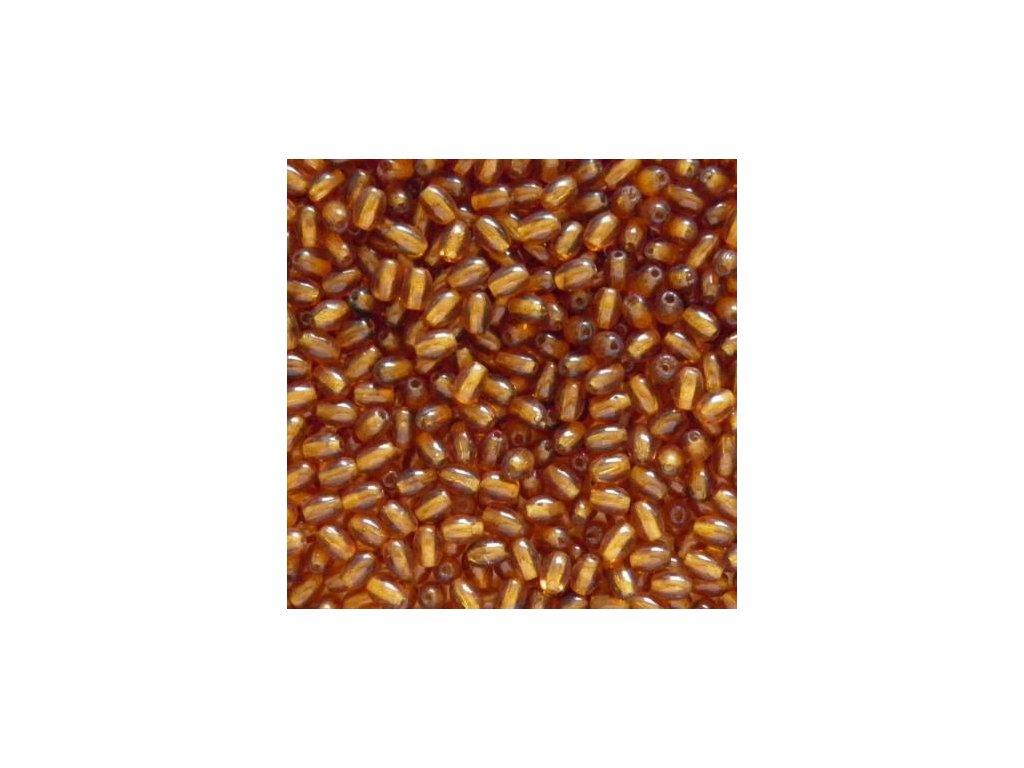 Korálky mačkané - oliva 10060 - 6/4