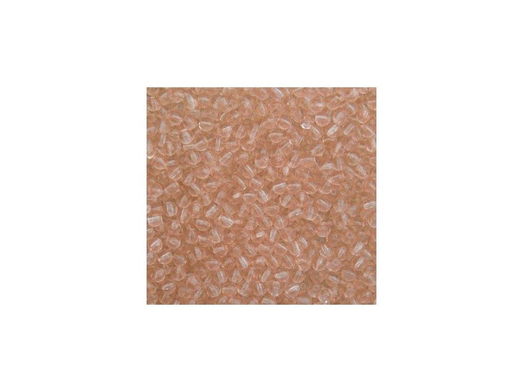 Korálky mačkané - kulička 4 mm - 70130 růžová