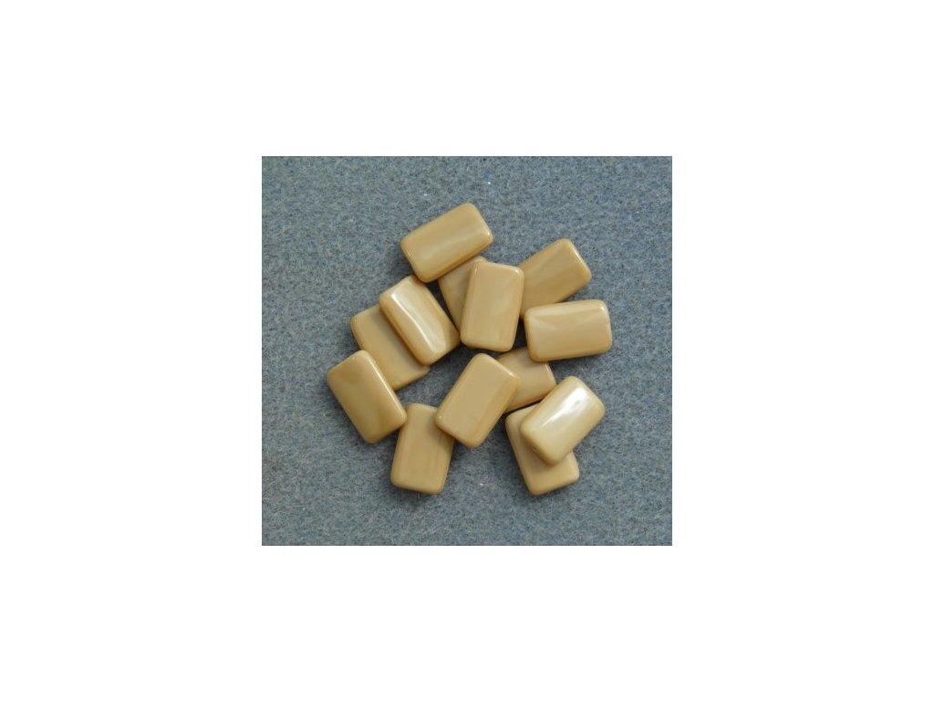 Korálky mačkané - MKL138 - obdélník 13040 béžový