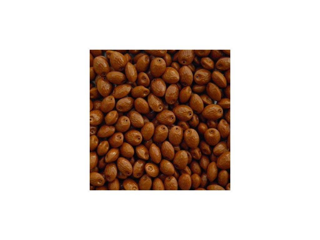 Korálky mačkané - MKL146 - oříšek