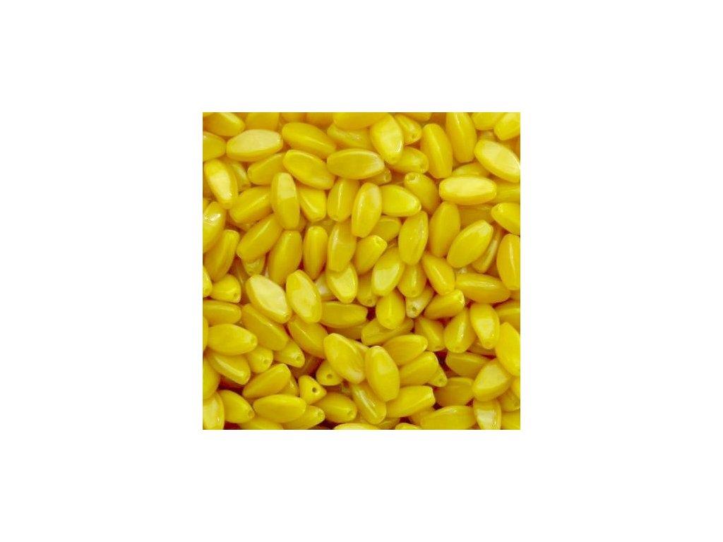 Korálky mačkané - MKL149 - oliva žlutá malá