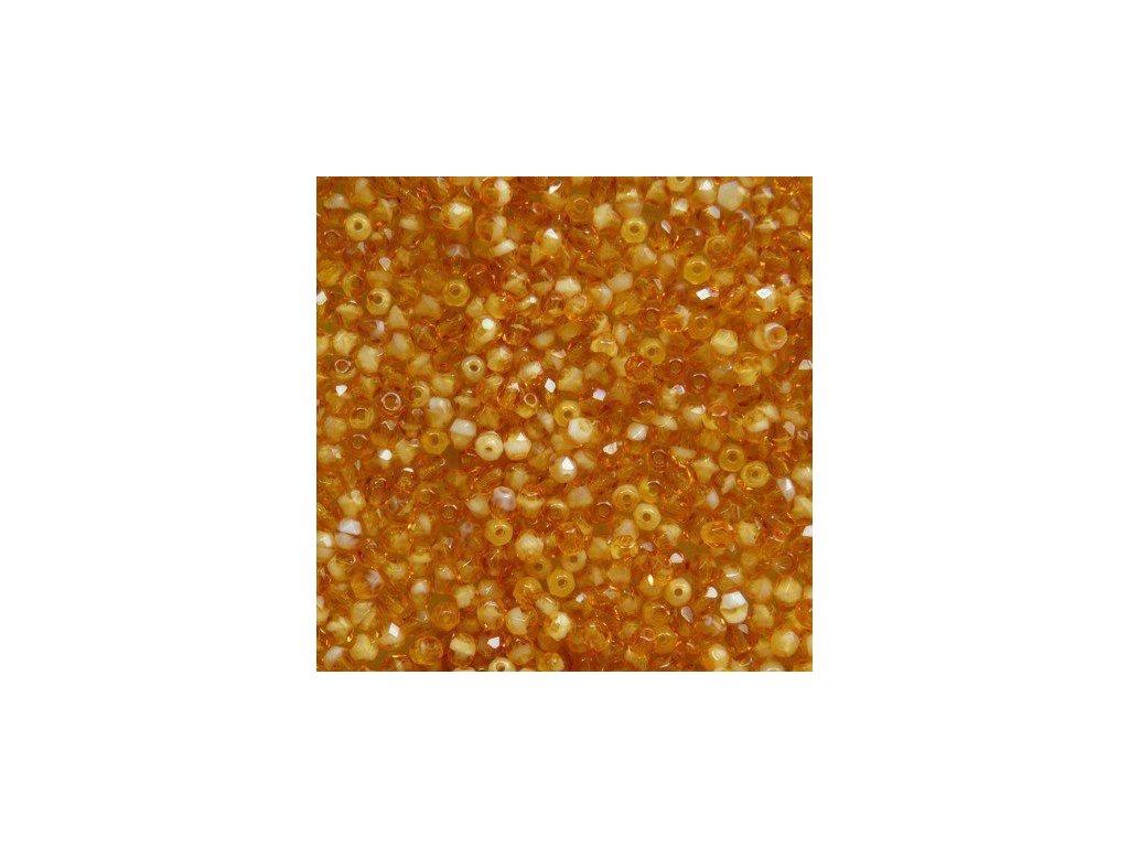 Korálky broušené - ohňovka 4 mm 06108 - 50 ks