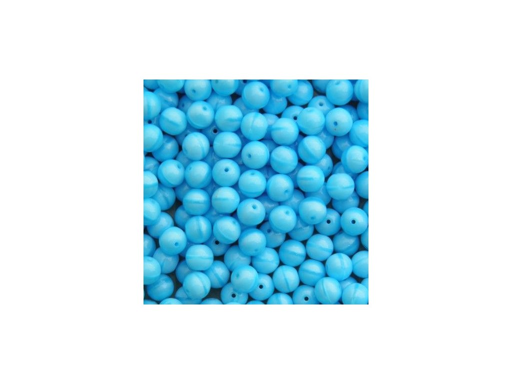 Korálky mačkané - kulička 3 mm - 63020 modrá