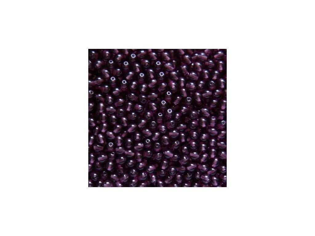 Korálky mačkané - kulička 5 mm - 20060 amethyst