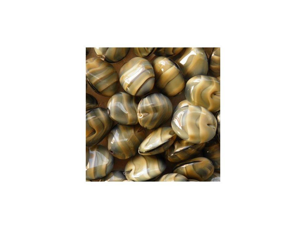 Korálky mačkané - MKL098 - valounek 26107