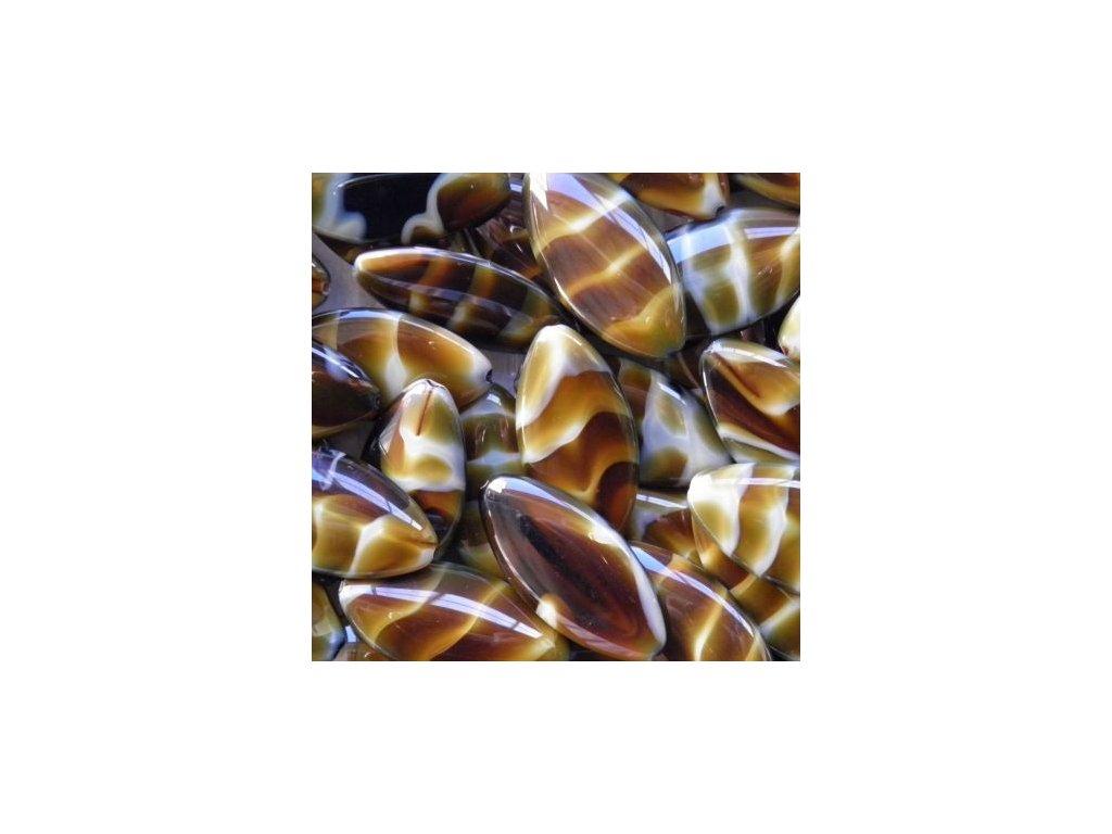 Korálky mačkané - MKL036 - lístek velký 26117