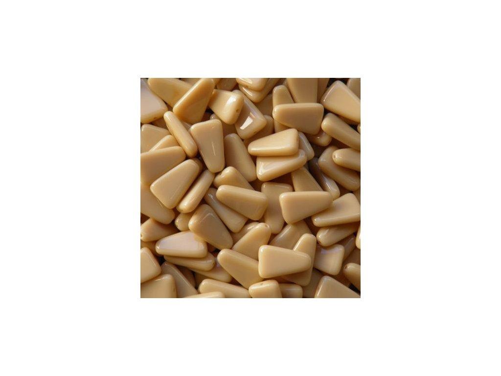 Korálky mačkané - MKL157 - trojúhelník oblý béžový