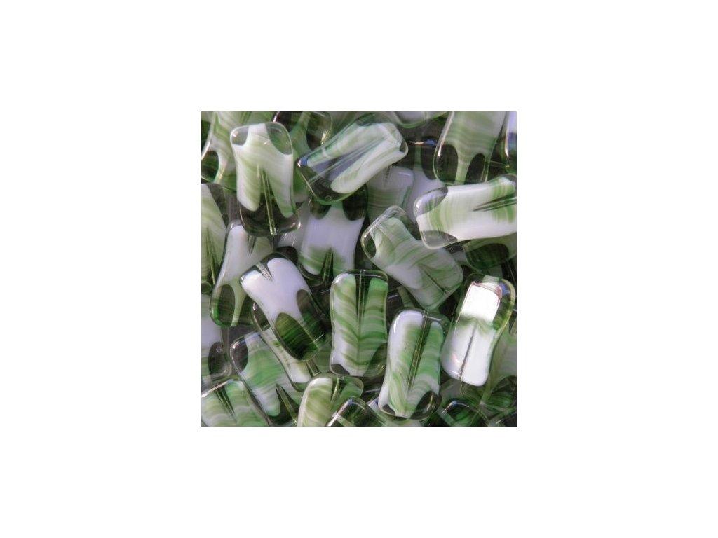 Mačkaná vlnka zelená 55014 - 25x15 (MKL165)