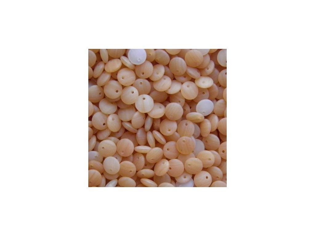 Korálky mačkané - BP19 - čočka béžová matná