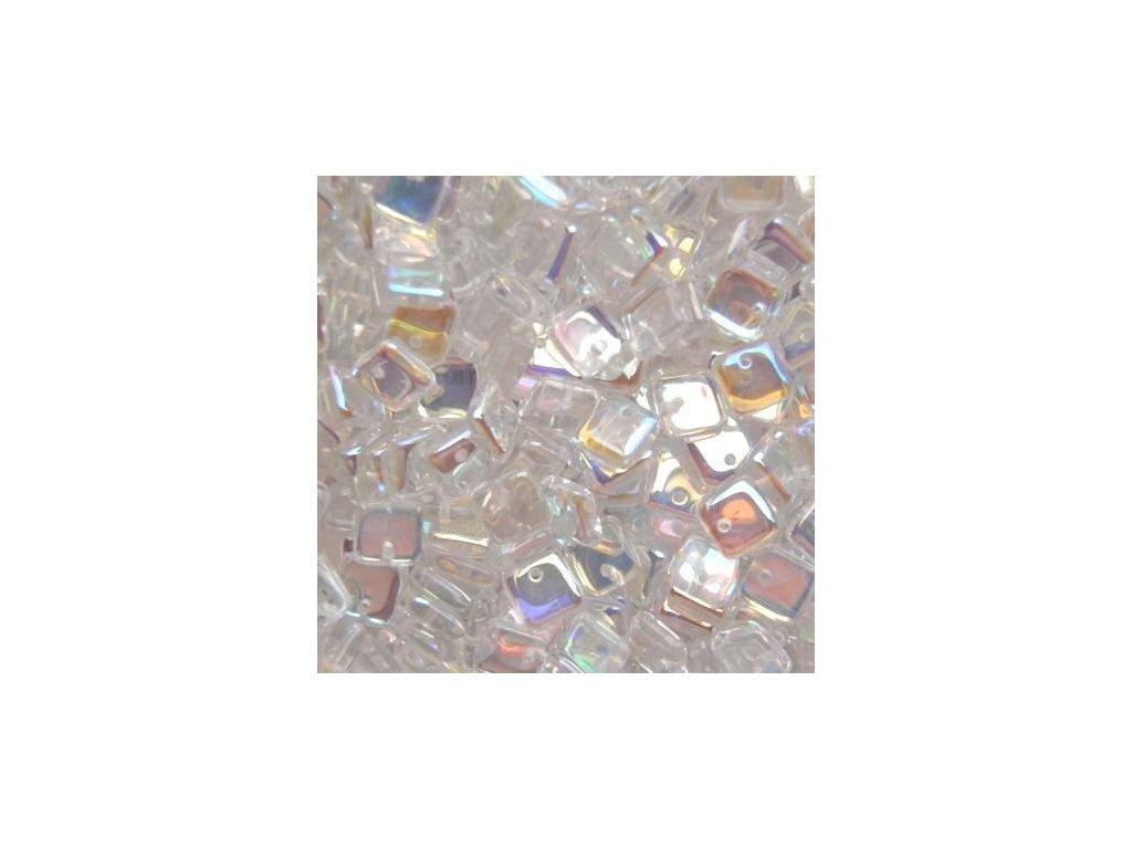 Korálky mačkané - BP20 - čtvereček 00030/28701 - 6 mm