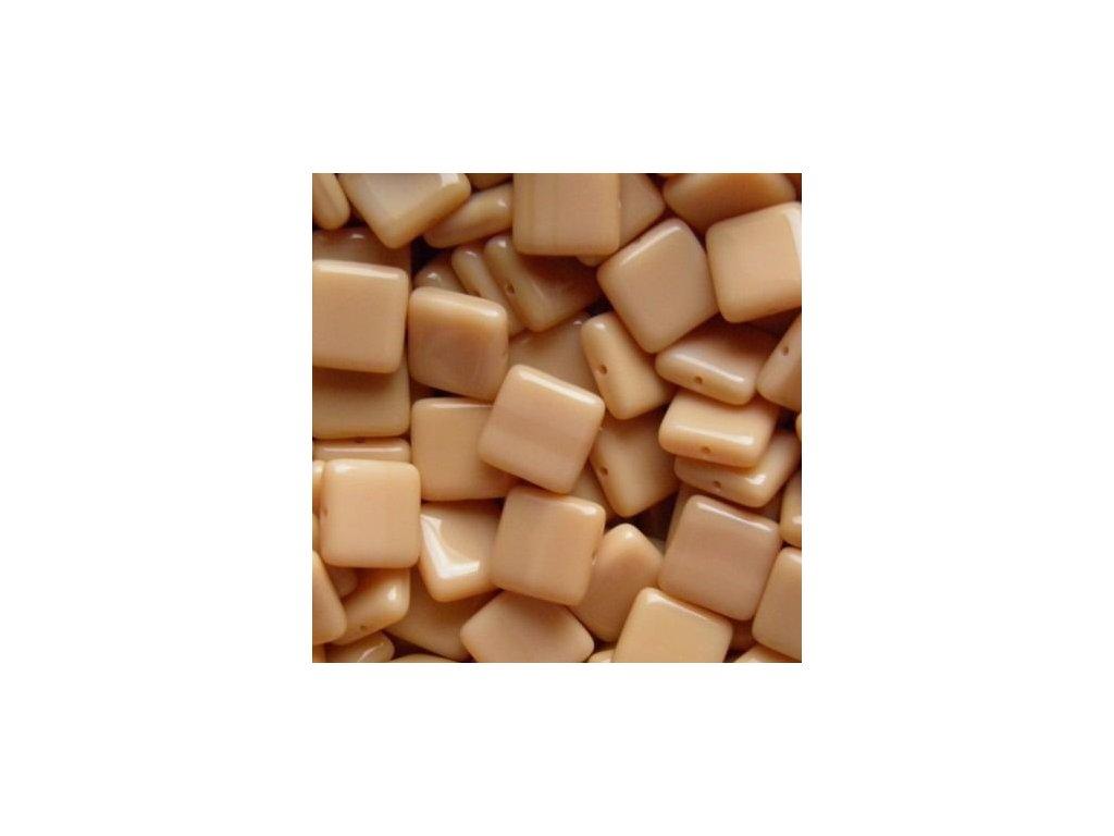 Korálky mačkané - BP35 - hnědý čtvereček - 10 mm