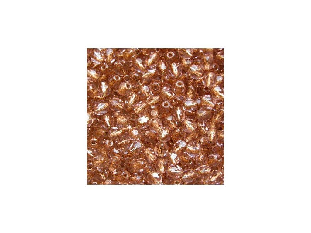 Korálky broušené - ohňovka 4 mm GL70110 - 50 ks