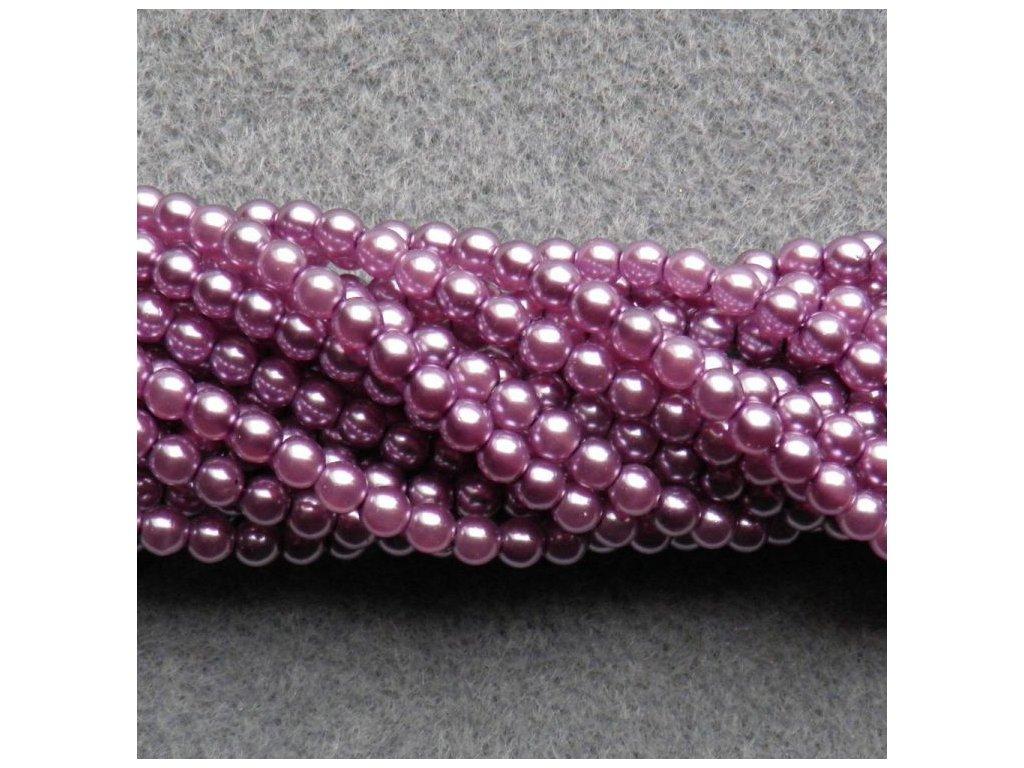 Korálky - voskované perle (70428) 4 mm