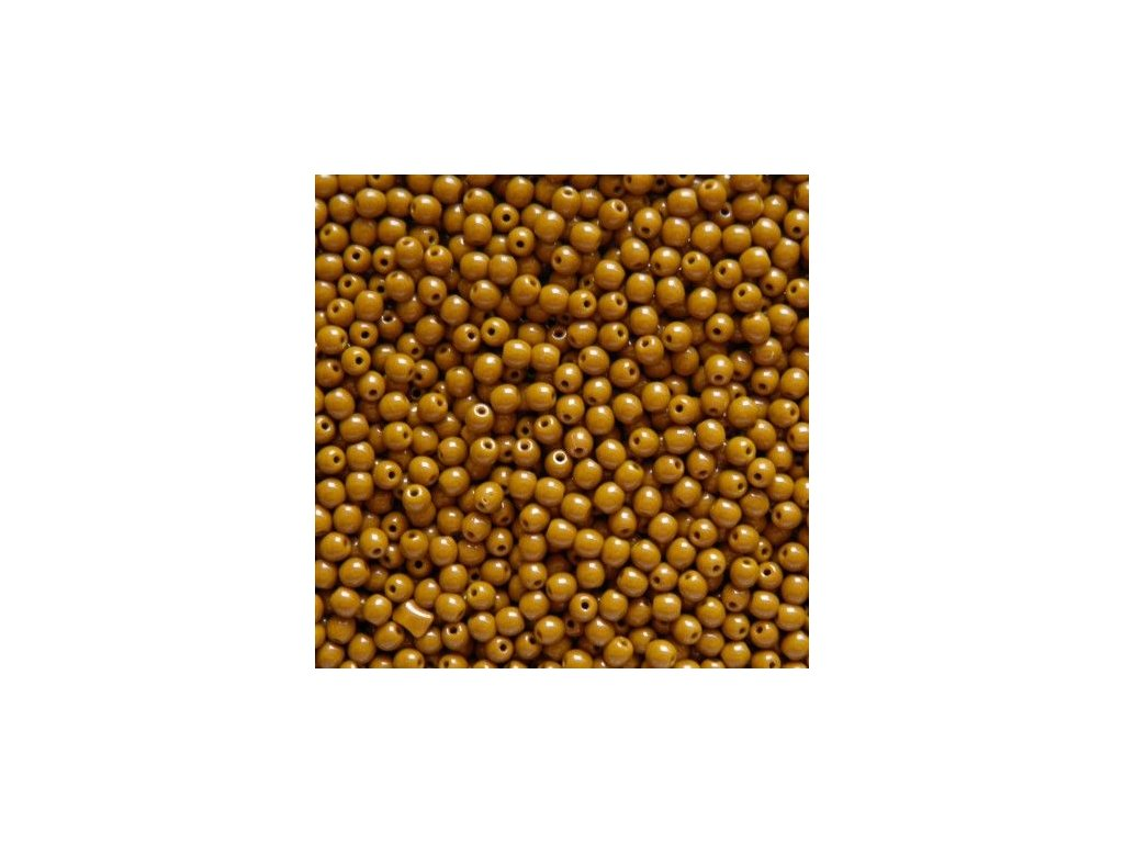 Korálky mačkané - kulička 4 mm - 13060 hnědá