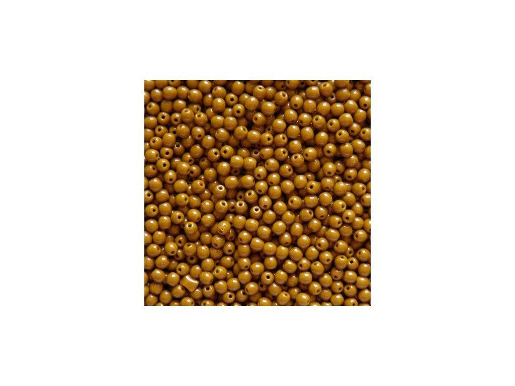 Korálky mačkané - kulička 4 mm - 13060 hnědá - 50 ks