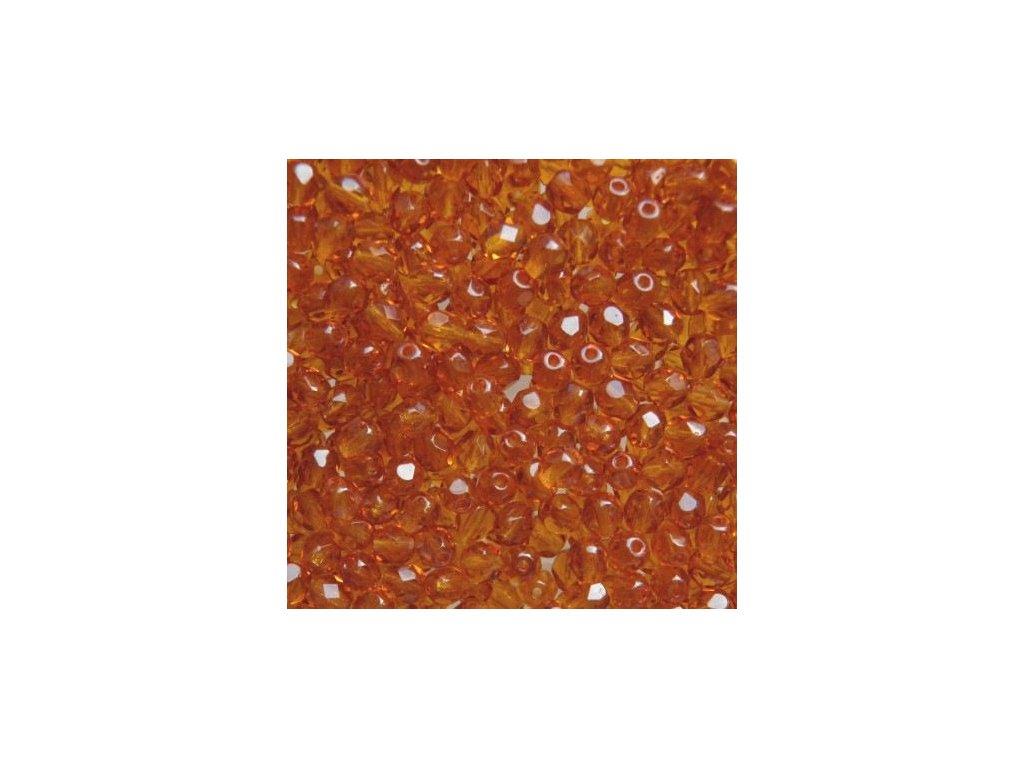 Korálky broušené - ohňovka 5 mm 10050