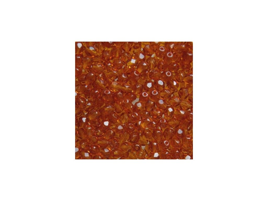 Korálky broušené - ohňovka 5 mm 10070
