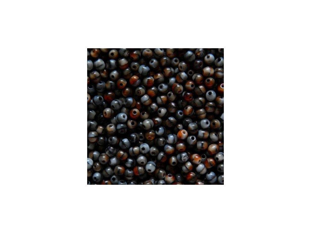 Korálky mačkané - kulička 4 mm - 26907 - 50 ks