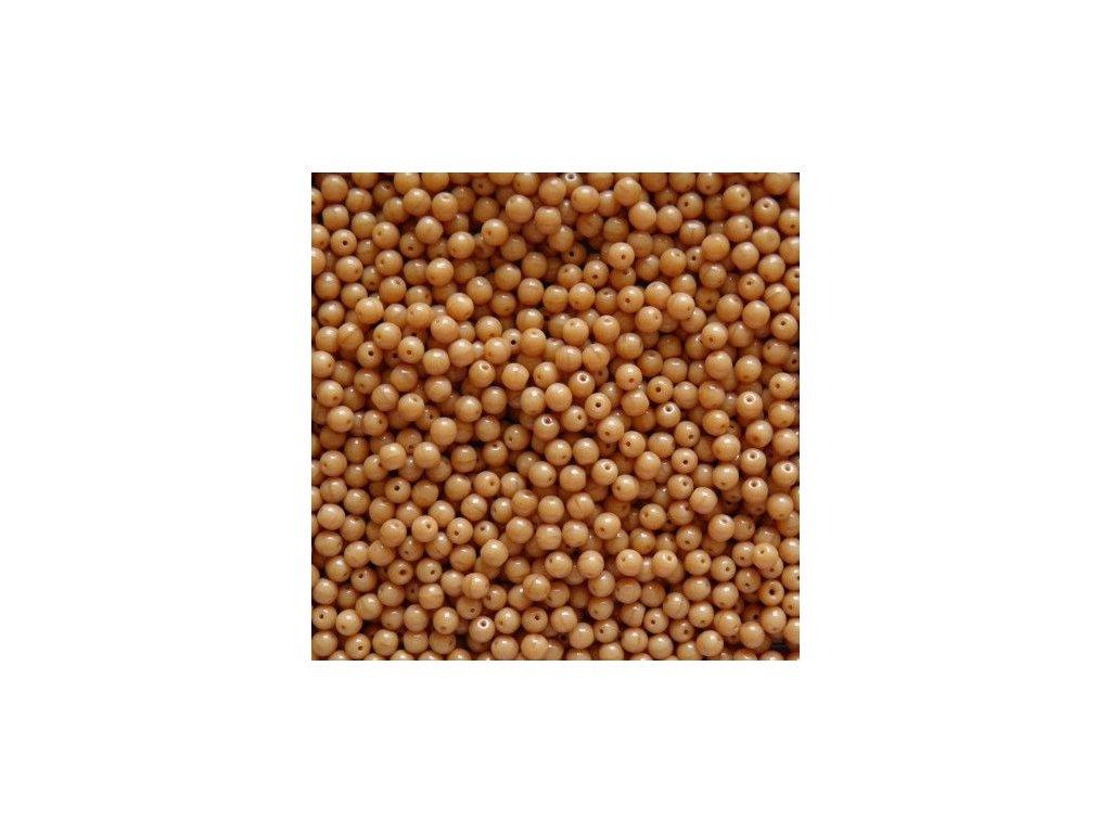 Korálky mačkané - kulička 4 mm - 13030 hnědá - 50 ks