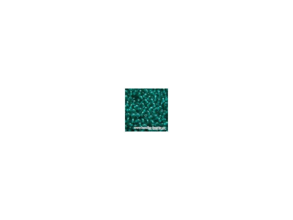 Korálky mačkané - kulička 4 mm - 60130 zelená