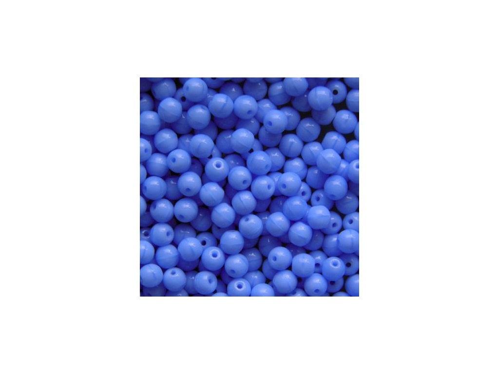 Korálky mačkané - kulička 7 mm - 33010 modrá