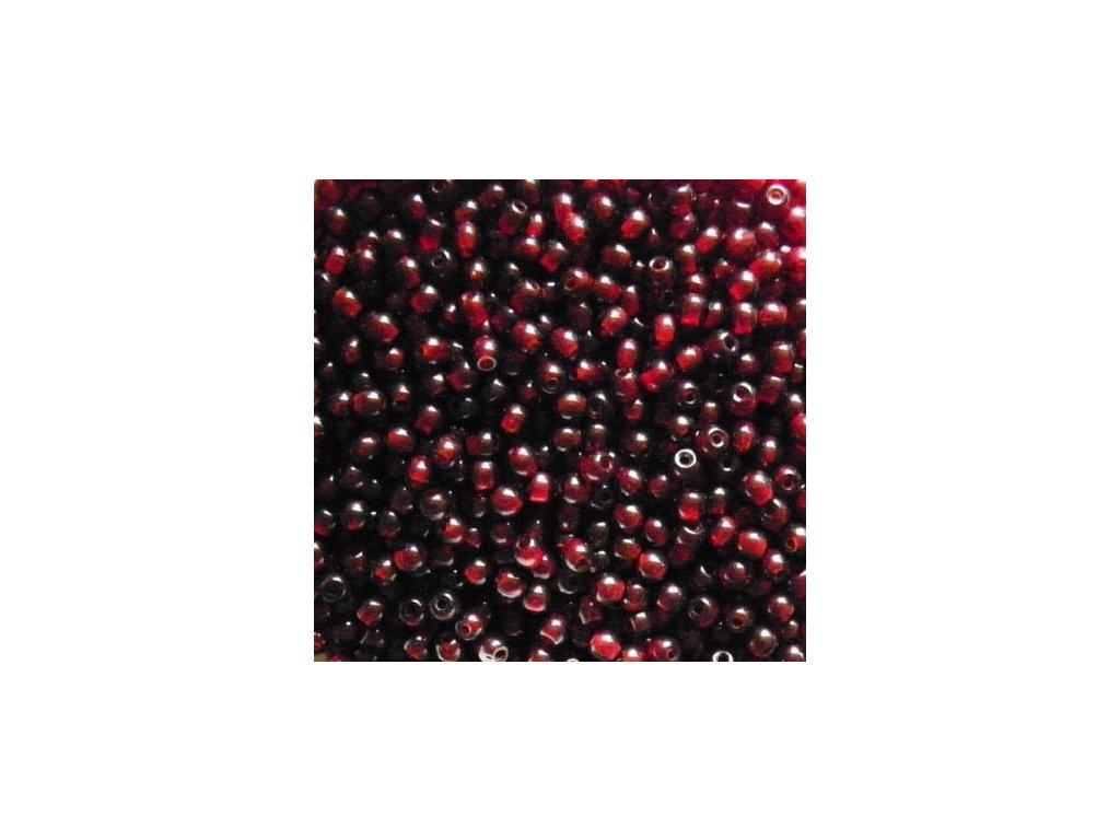 Korálky mačkané - kulička 6 mm - 90110 tmavě červená